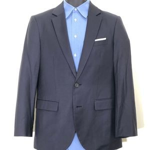 Zio by Songzio Navy Blue 2-Button Full Suit